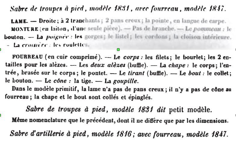 Glaive (monarchie de juillet, empire ?) 1831_n11