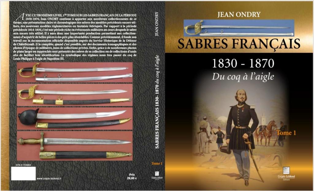 SABRES FRANCAIS 1830-1870 DU COQ A L'AIGLE 1er tome Couver11