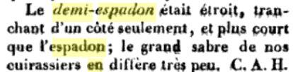 SABRE de SOUS-OFFICER DE LA GARDE IMPERIALE II EMPIRE Demi-e10