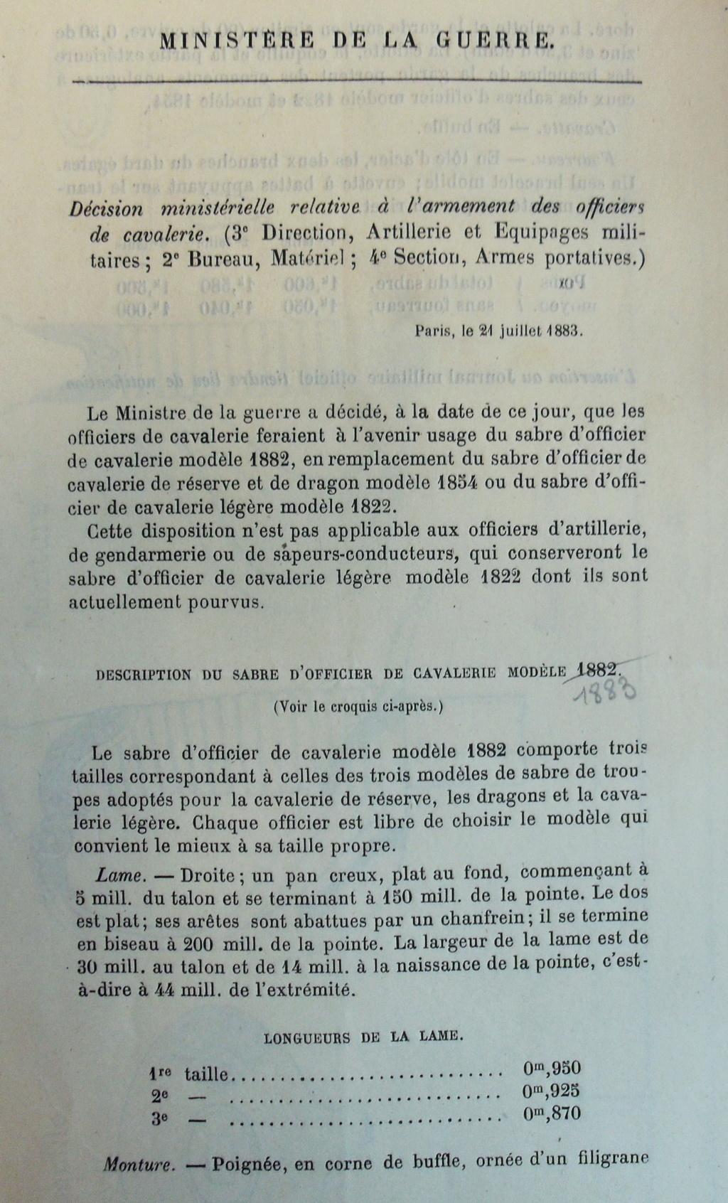 Un modèle injustement mésestimé : le sabre d'officier de cavalerie Mod 1882 Imgp3013