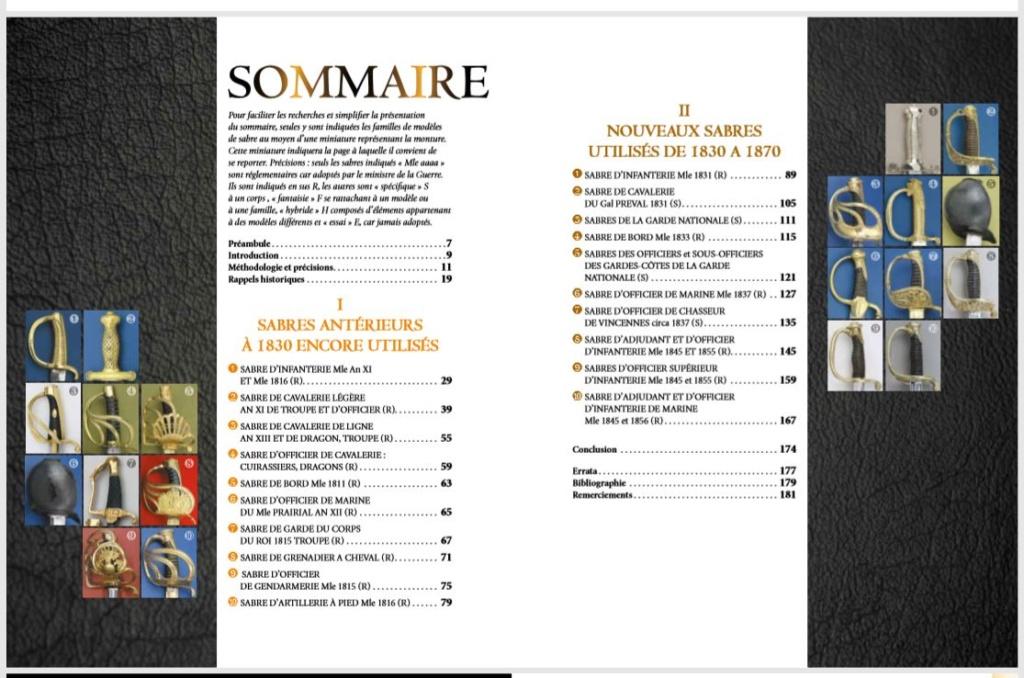 SABRES FRANCAIS 1830-1870 DU COQ A L'AIGLE 1er tome Sommai10