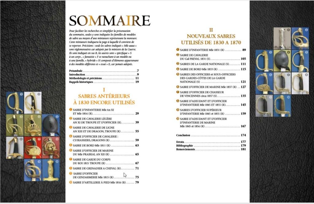 SABRES FRANCAIS 1830-1870 DU COQ A L'AIGLE 1er tome - Page 2 Sommai11