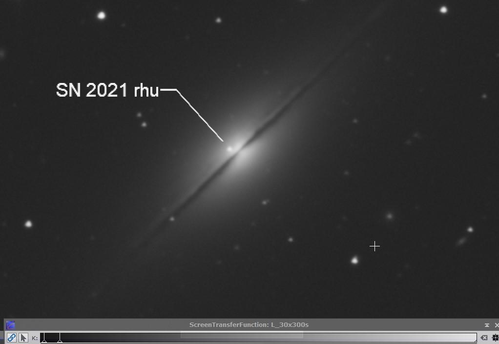 Supernova 2021rhu dans la galaxie NGC7814 Captur33