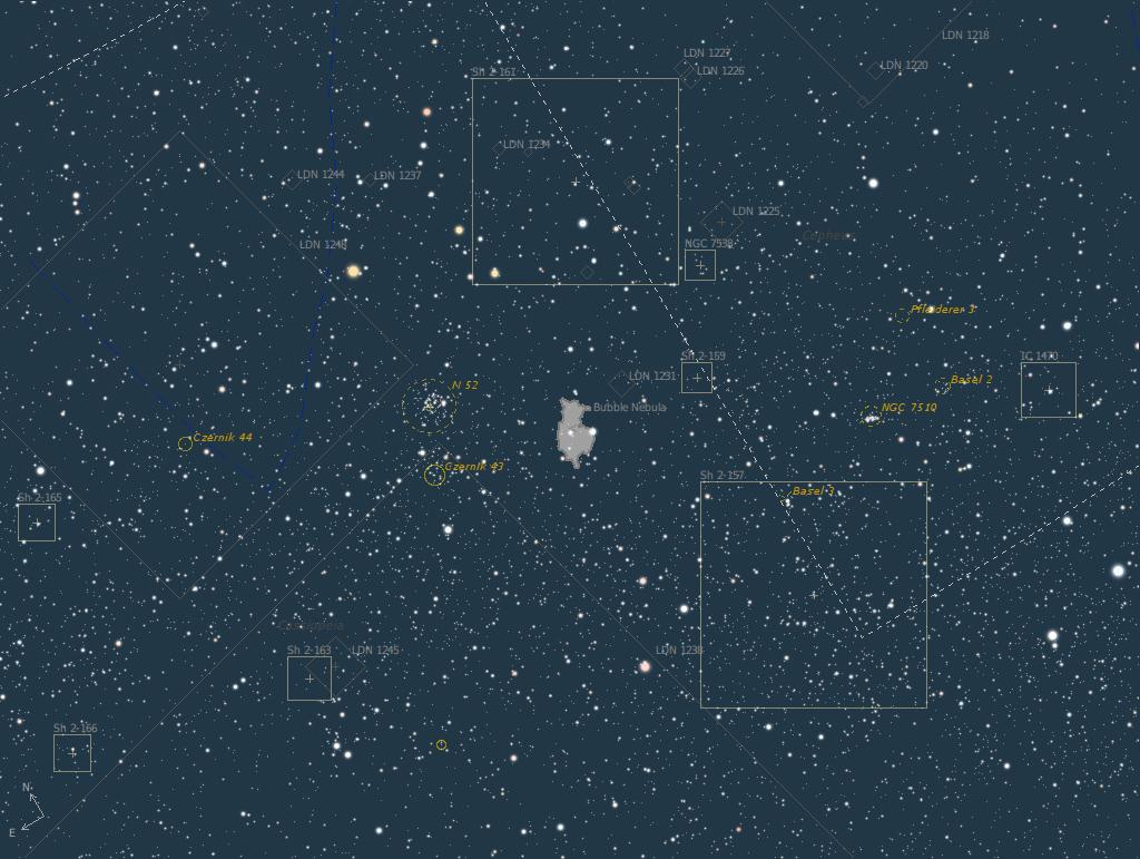 Nébuleuse de la bulle sous toute ses coutures Map10