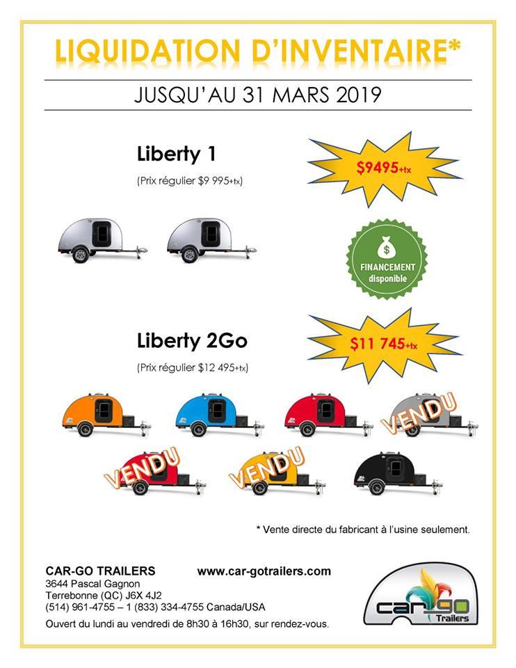 Car-Go Traillers Vente d'inventaire seulement à l'usine de Terrebonne 53854710