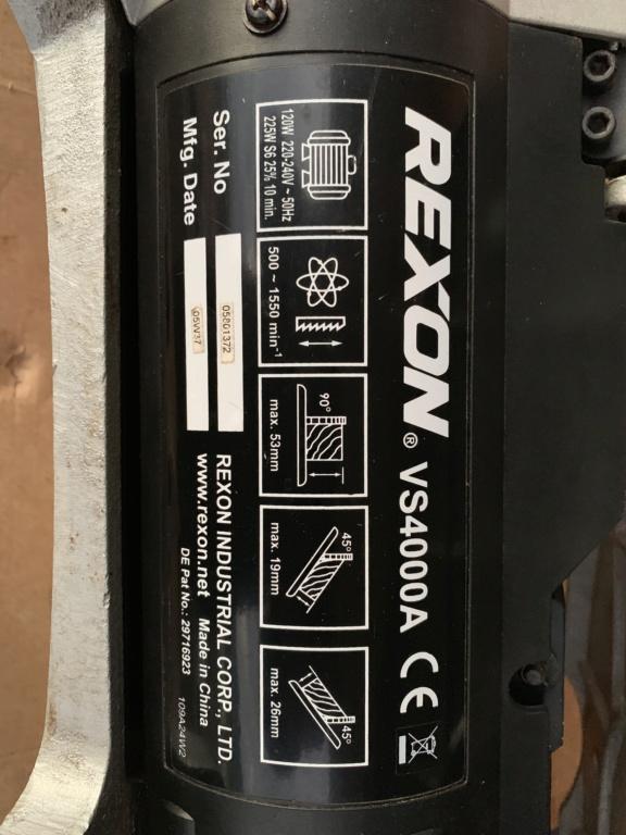 Recherche notice utilisation Scie à chantourner Rexon 4002A 7acd2310