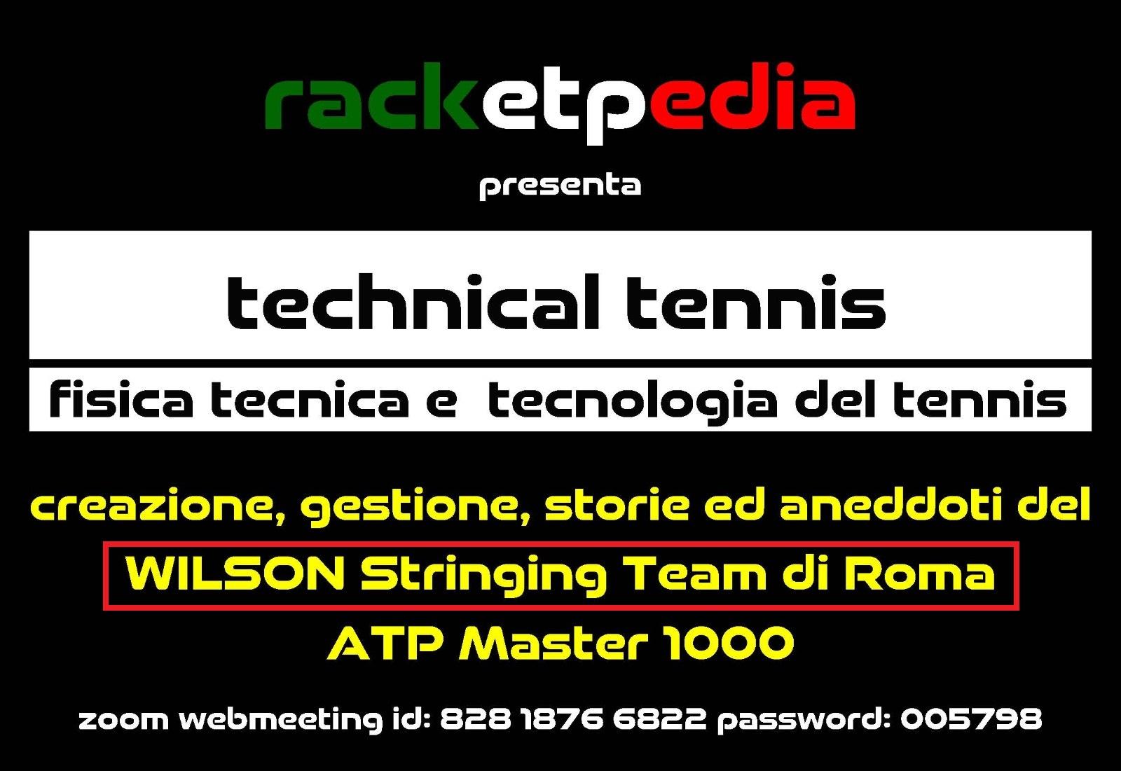 Team incordatori Master di Roma ospiti LIVE ZOOM su Racketpedia 95802210