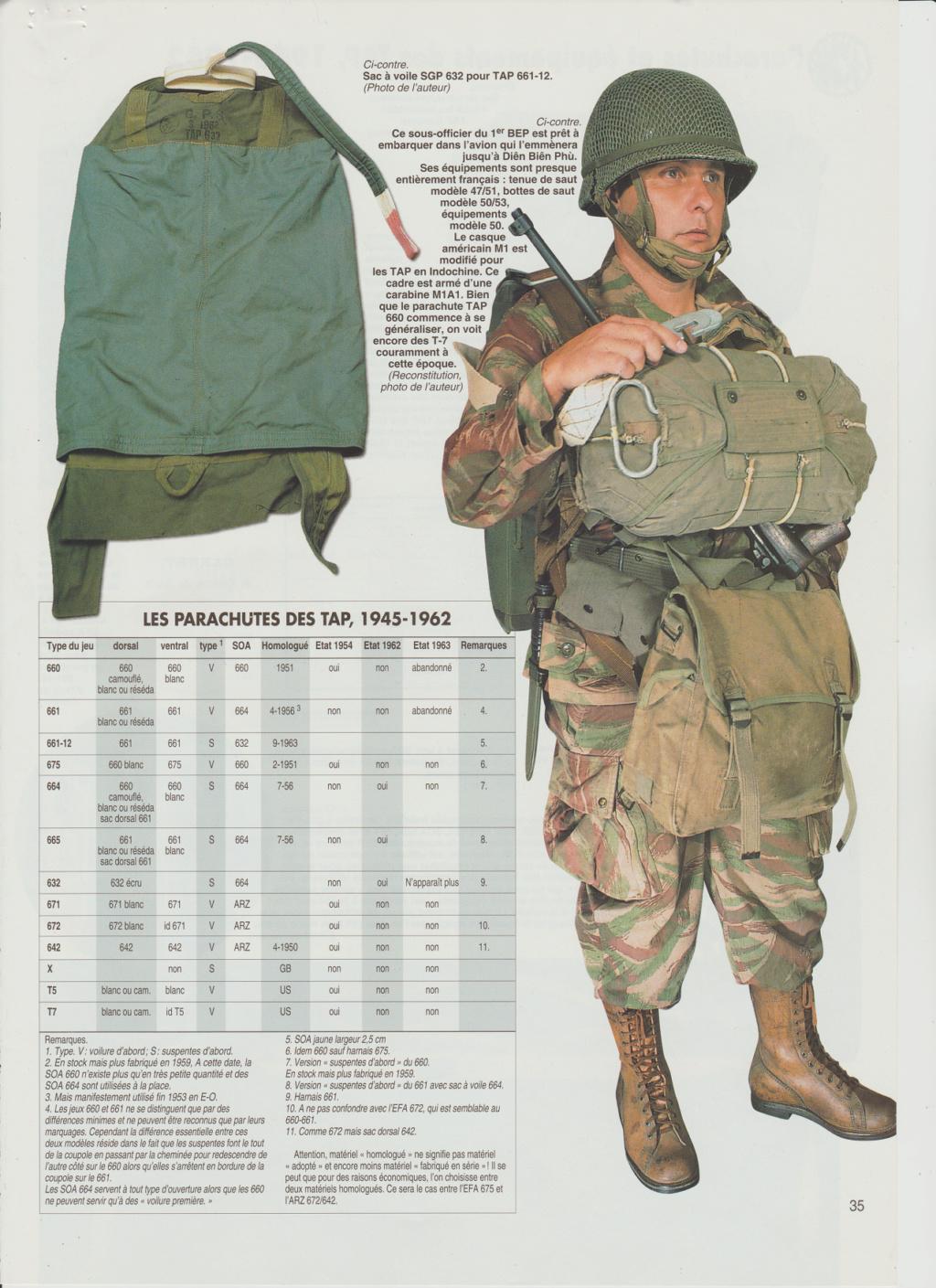 Equipements TAP-Parachutes et gaines 1010