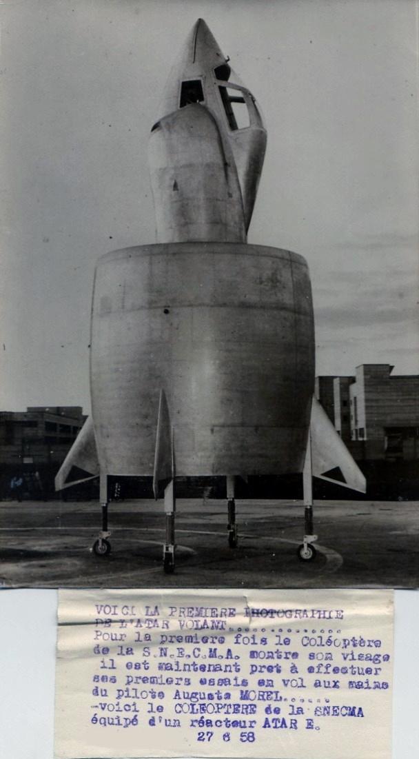 Il y a 60 ans, l'aventure du révolutionnaire projet d'avion C-450 « Coléoptère » prenait fin  . 506_0010