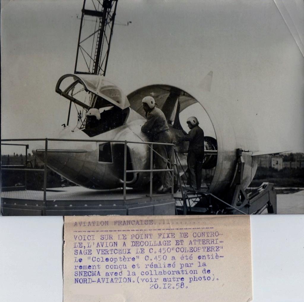 Il y a 60 ans, l'aventure du révolutionnaire projet d'avion C-450 « Coléoptère » prenait fin  . 521_0010