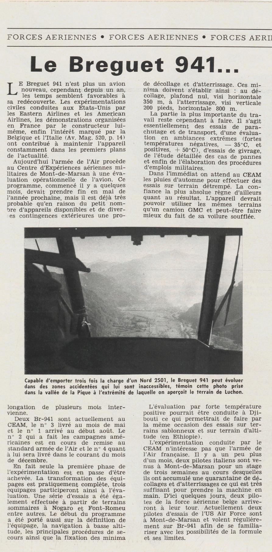Breguet 940/941 : l'invention de l'ADAC . Aa12