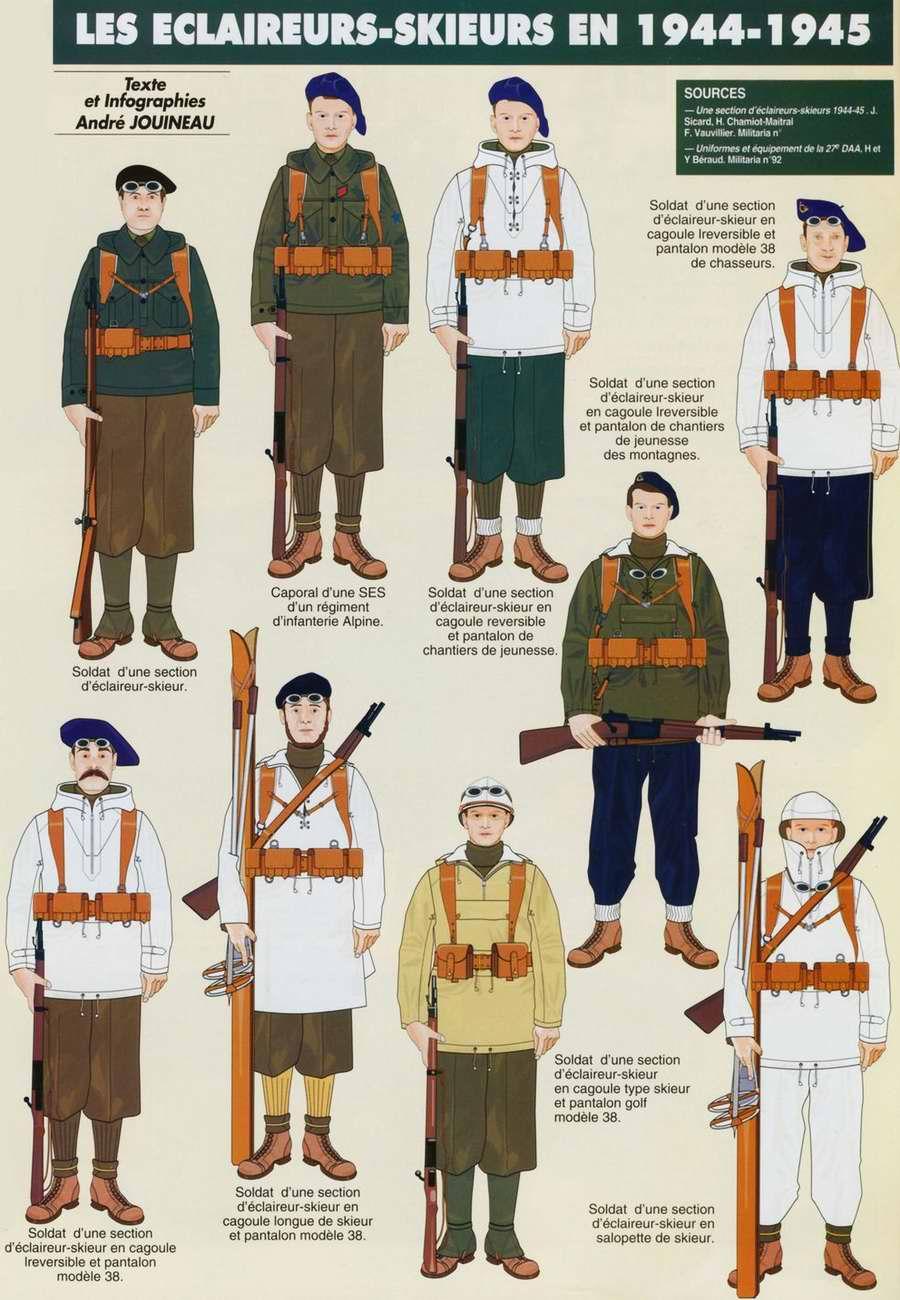Planches uniformes Armée Française.... Alpins14