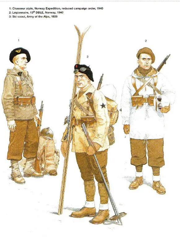 Planches uniformes Armée Française.... Alpins15