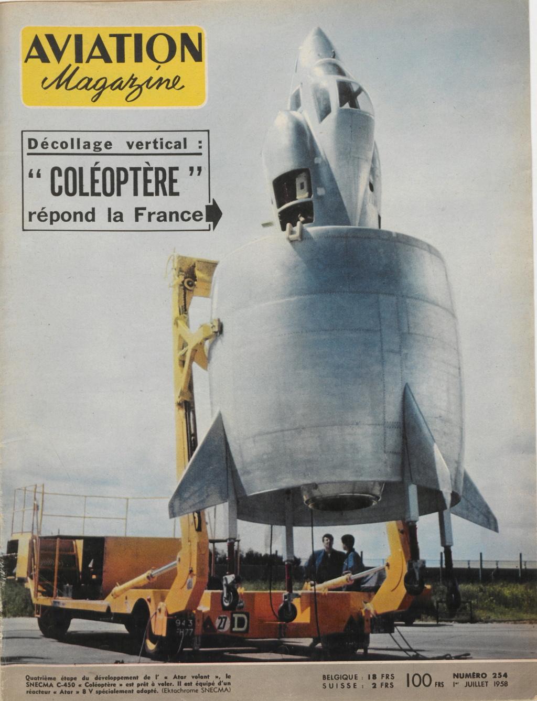 Il y a 60 ans, l'aventure du révolutionnaire projet d'avion C-450 « Coléoptère » prenait fin  . Aviati14