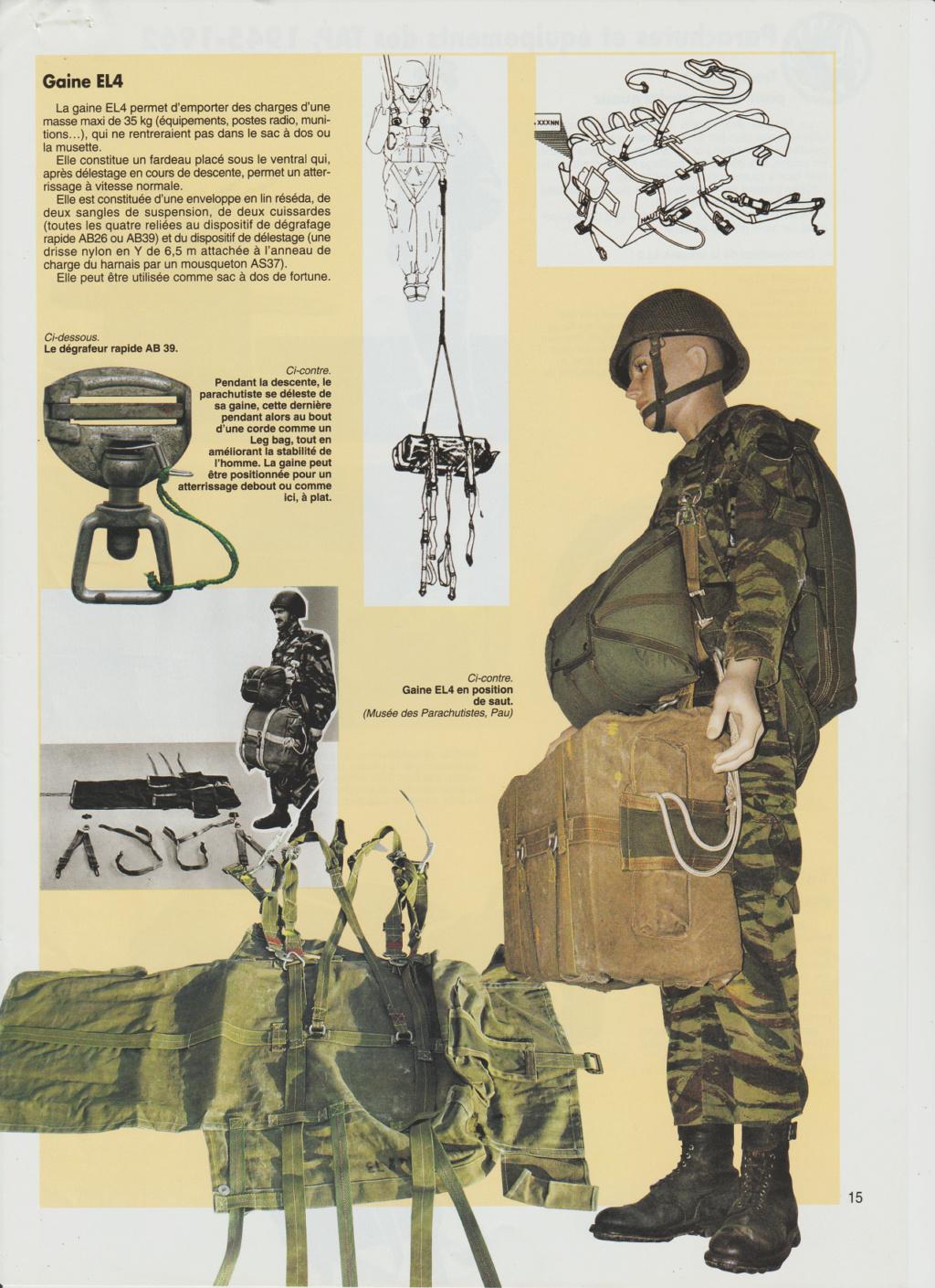 Equipements TAP-Parachutes et gaines B13