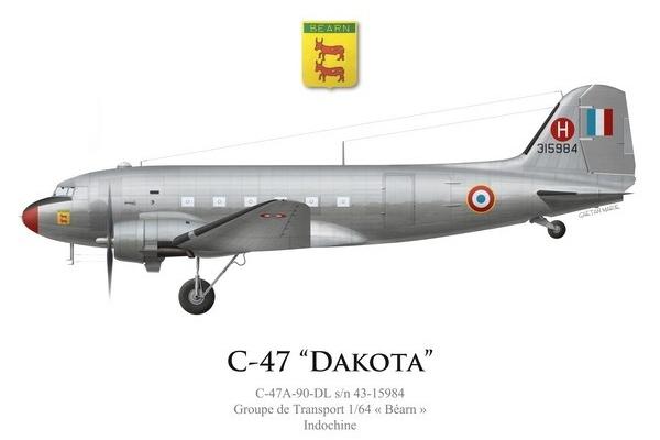 Escadron De Transport 2/64 Anjou C-47a-10
