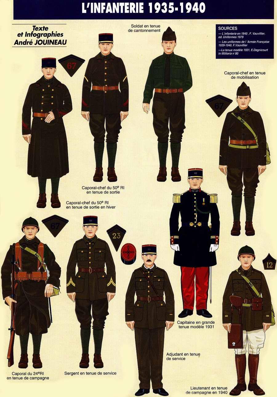 Planches uniformes Armée Française.... - Page 4 Infant56