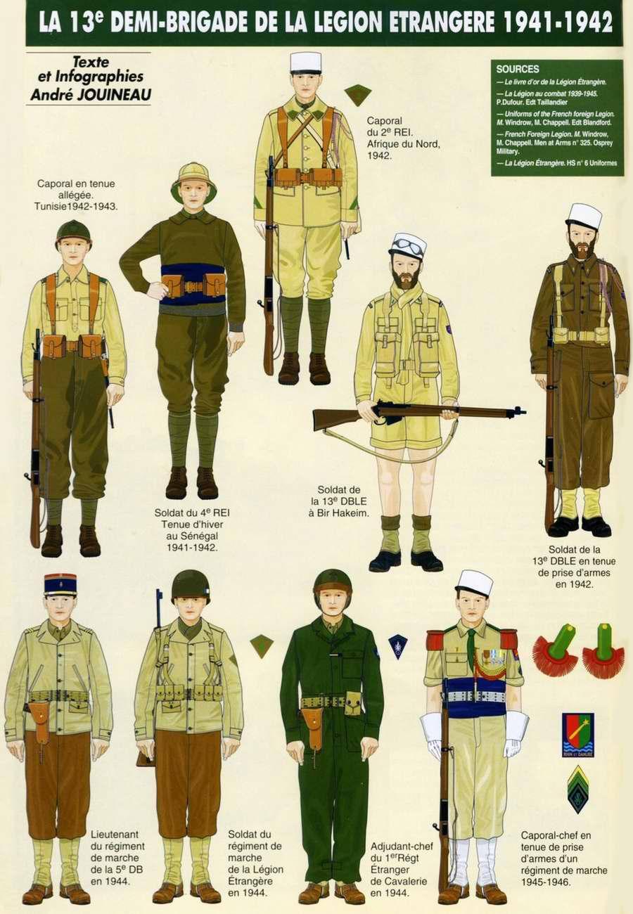 Planches uniformes Armée Française.... Legion24