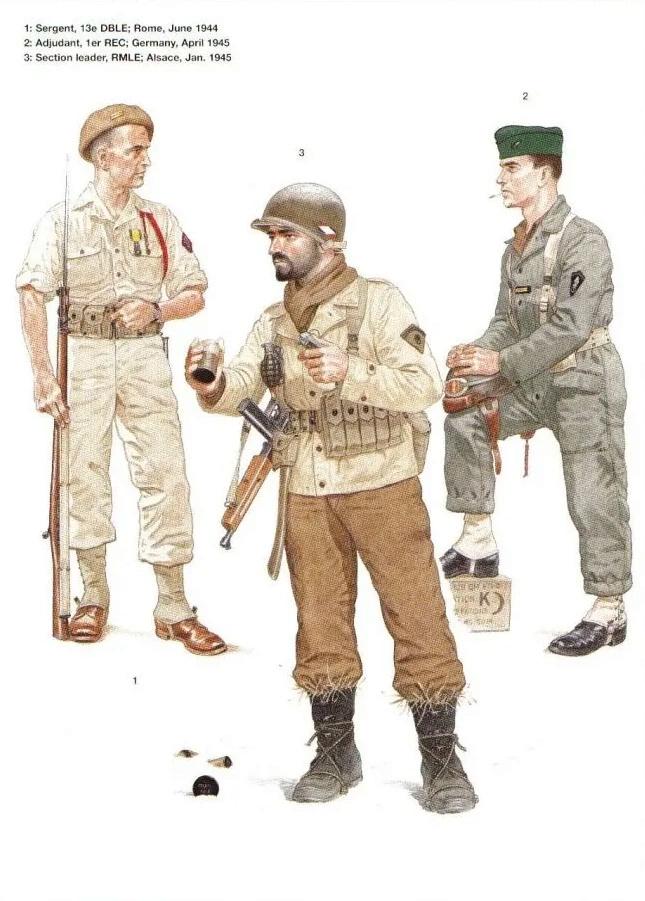 Planches uniformes Armée Française.... Legion25