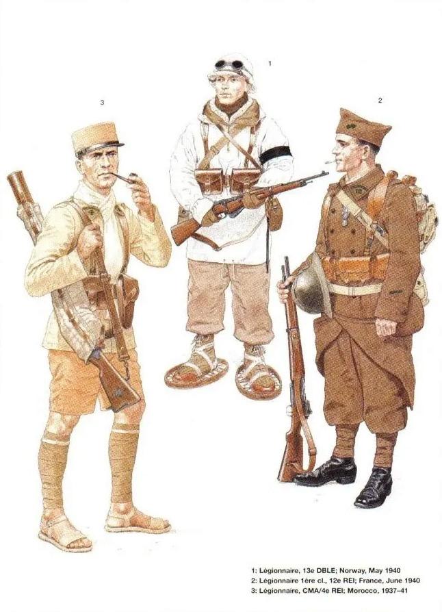 Planches uniformes Armée Française.... Legion26