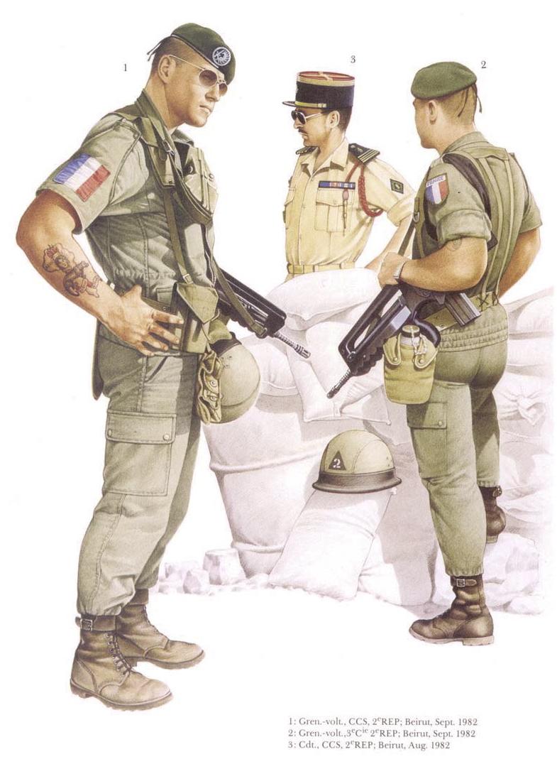 Planches uniformes Armée Française.... Legion36