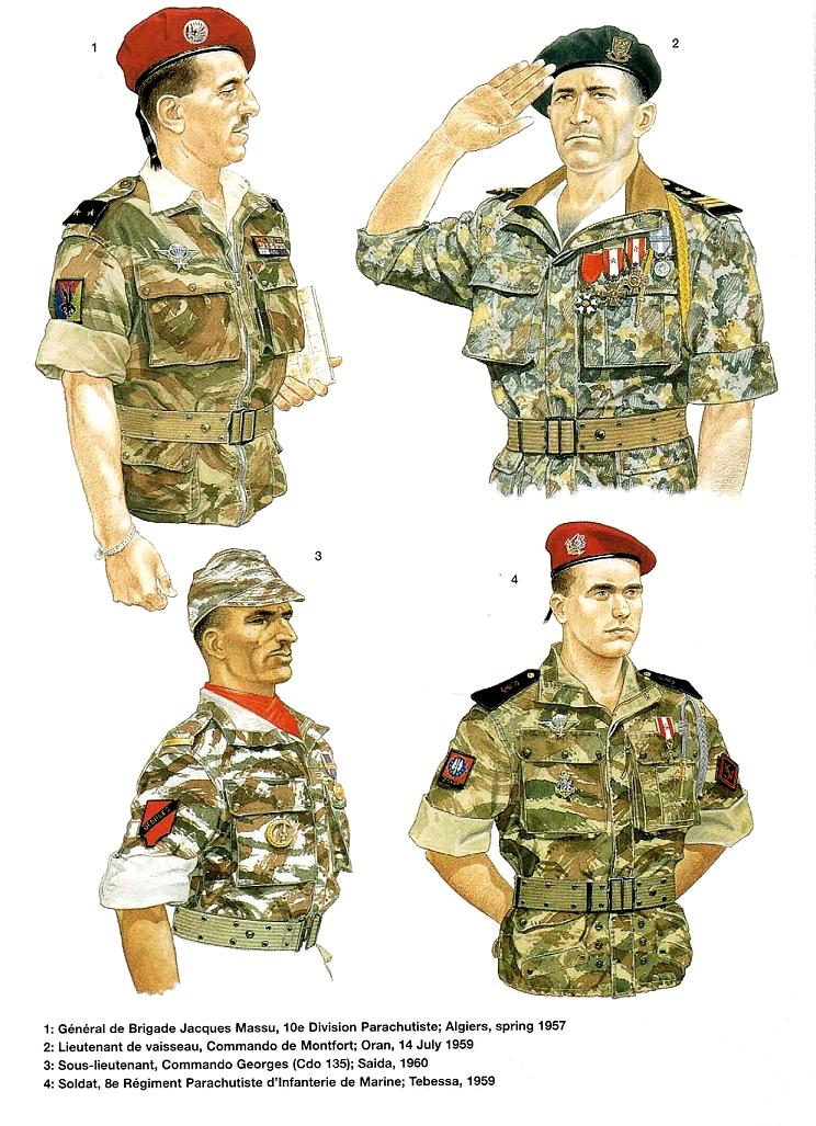 Planches uniformes Armée Française.... Parach21