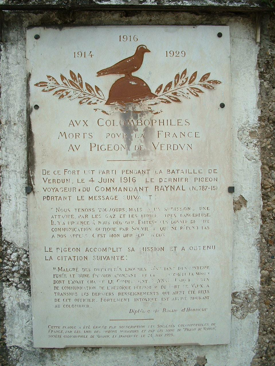 Les animaux, héros oubliés de la Grande Guerre . Vaux_l10