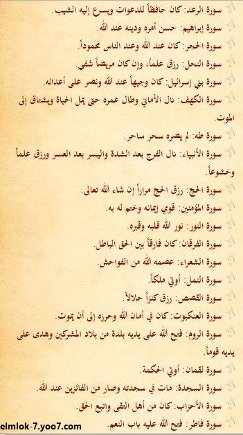 رؤية سور القرأن الكريم فى المنام 215