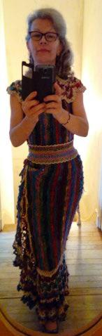 Robe Flammenco au Crochet Laine et Soie , Laine Noro Japonais ! Img_2011