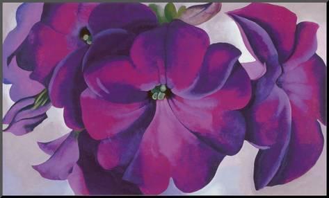 Georgia O'Keeffe; peintre américaine Petuni10