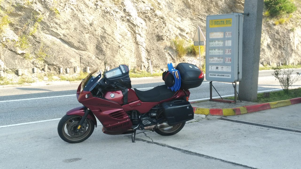 Bike loaded for holiday & during the journey Holida10