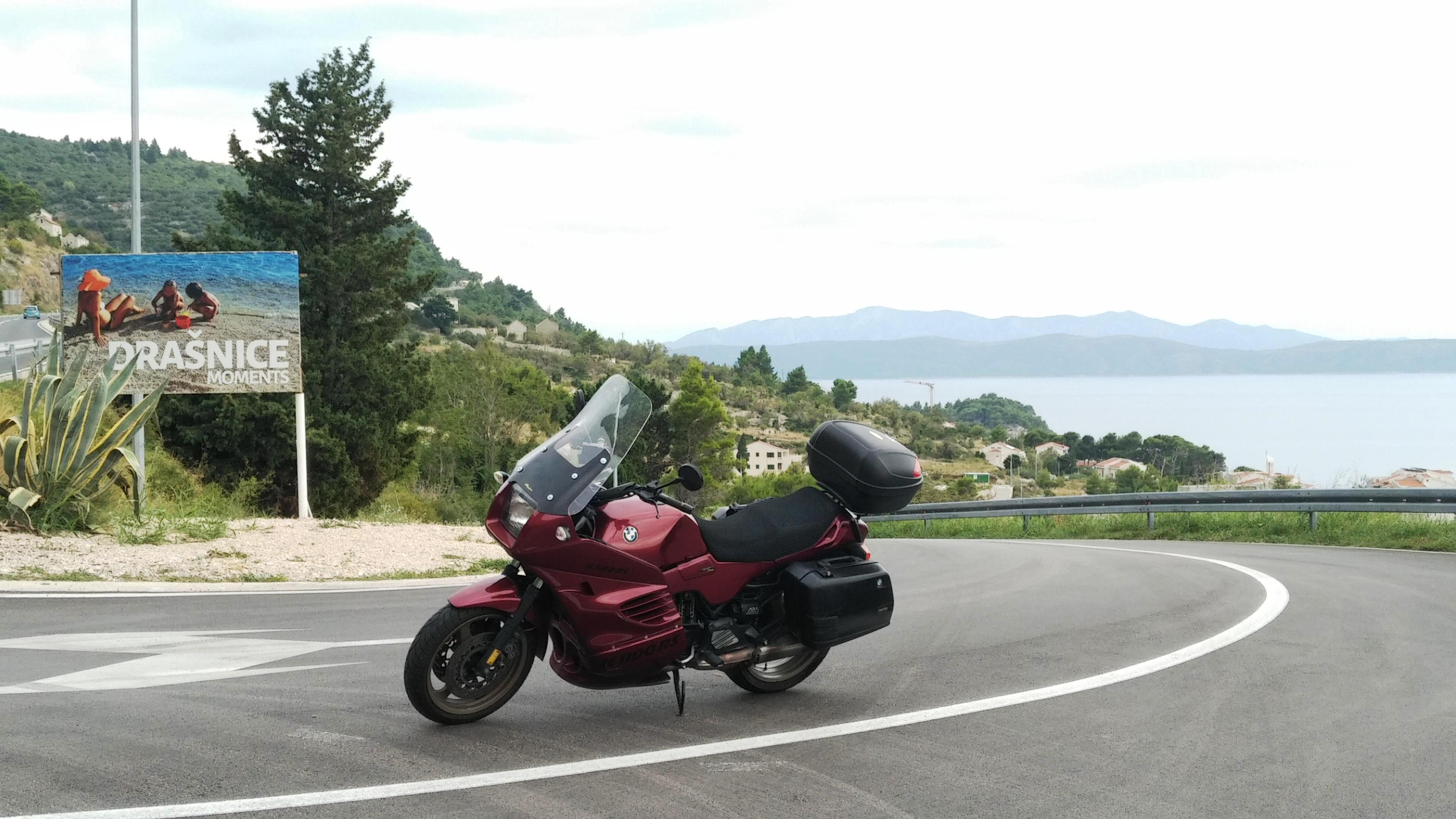 Bike loaded for holiday & during the journey Holida13