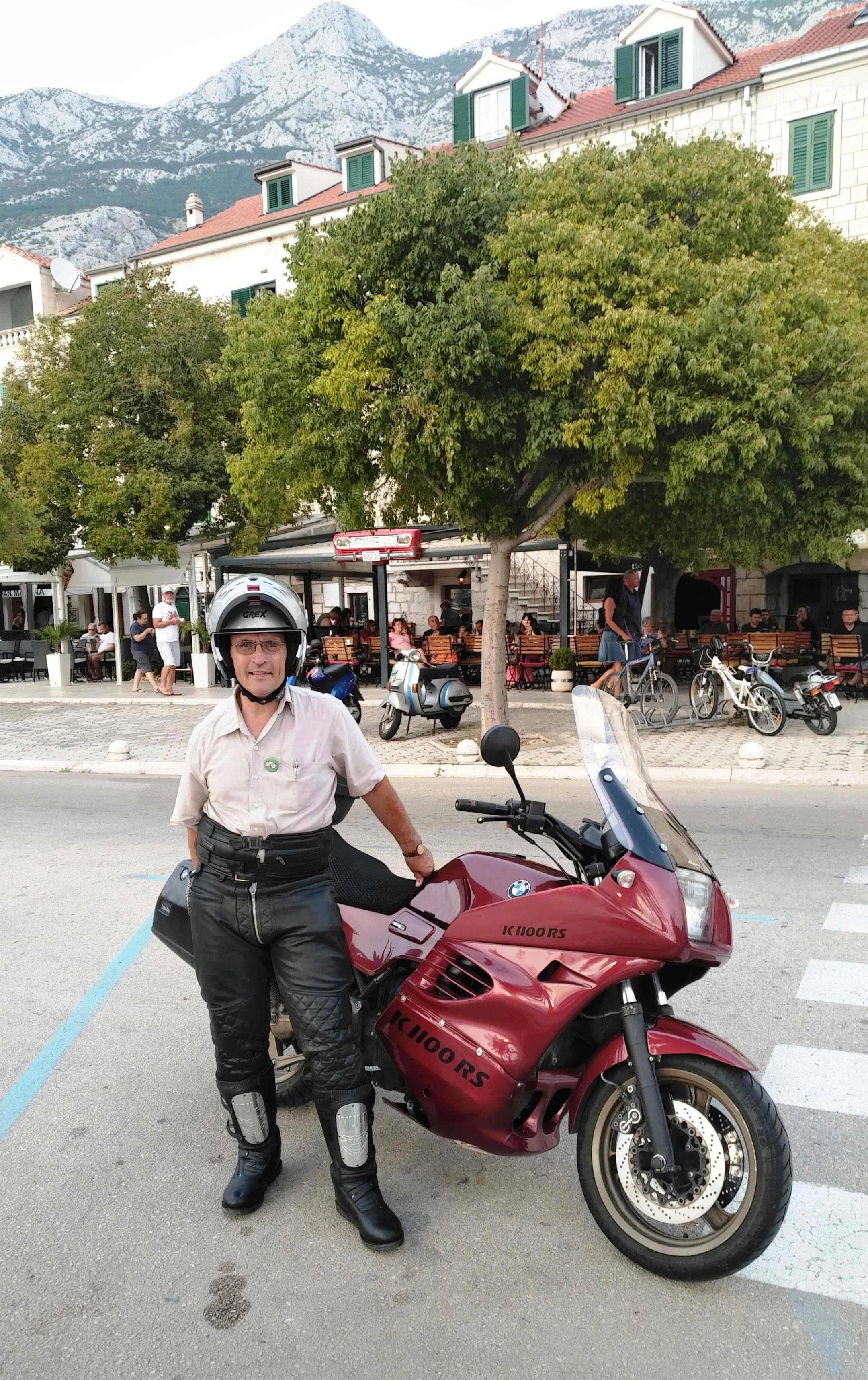 Bike loaded for holiday & during the journey Holida15