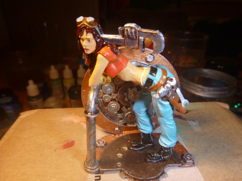 Scale 75 Fix it Sam  Mechanikerin 75mm Steam Punk P1070516