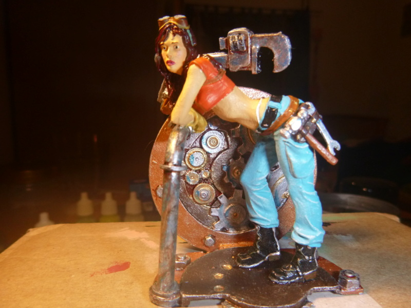 Scale 75 Fix it Sam  Mechanikerin 75mm Steam Punk P1070519