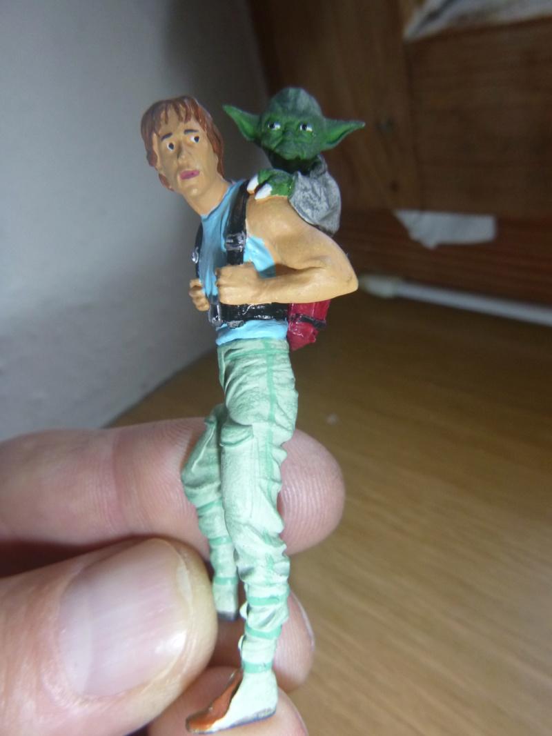 Luke Skywalker mit Yoda, Scale 75 für meine Eisenbahn Spur G   75mm P1070530