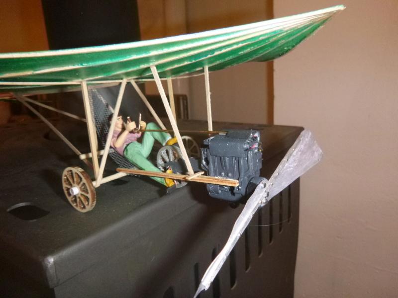 Flugzeug mit Pedalantrieb für meine Eisenbahn Anlage 1:22,5 Traumland  P1080027