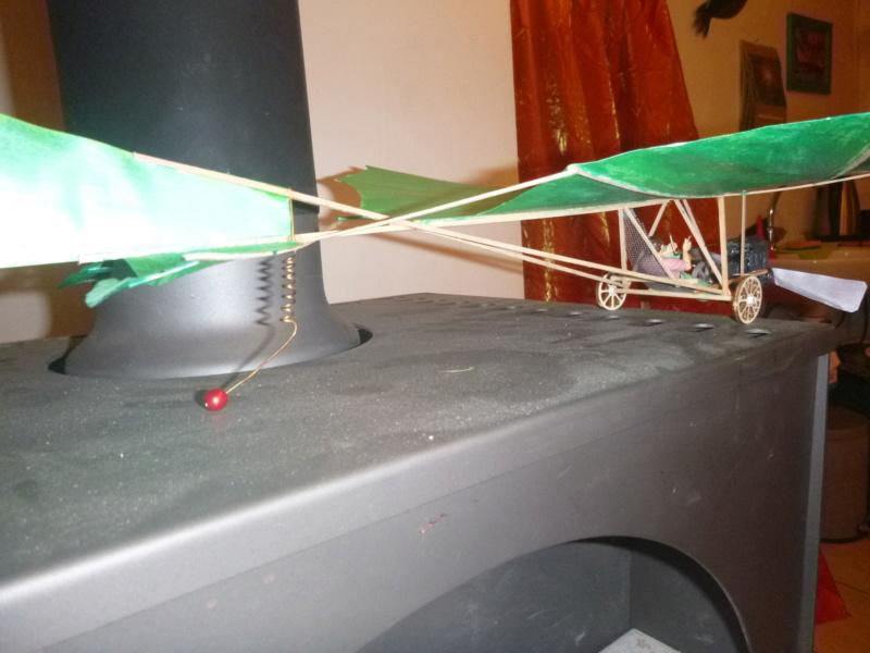 Flugzeug mit Pedalantrieb für meine Eisenbahn Anlage 1:22,5 Traumland  P1080030