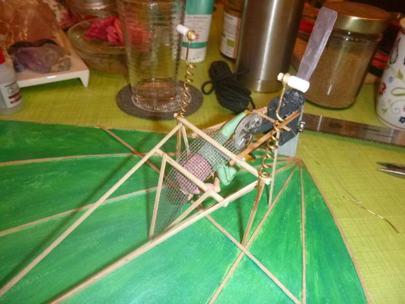 Flugzeug mit Pedalantrieb für meine Eisenbahn Anlage 1:22,5 Traumland  P1080033