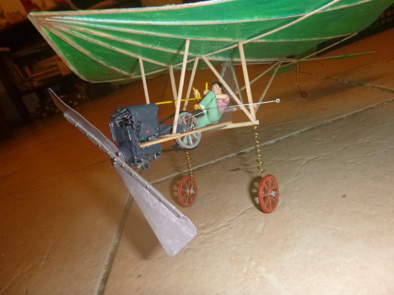 Flugzeug mit Pedalantrieb für meine Eisenbahn Anlage 1:22,5 Traumland  P1080038