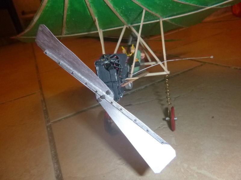 Flugzeug mit Pedalantrieb für meine Eisenbahn Anlage 1:22,5 Traumland  P1080040