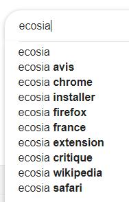 ECOSIA, qui connait et qu'en pensez-vous.  Ecosia10