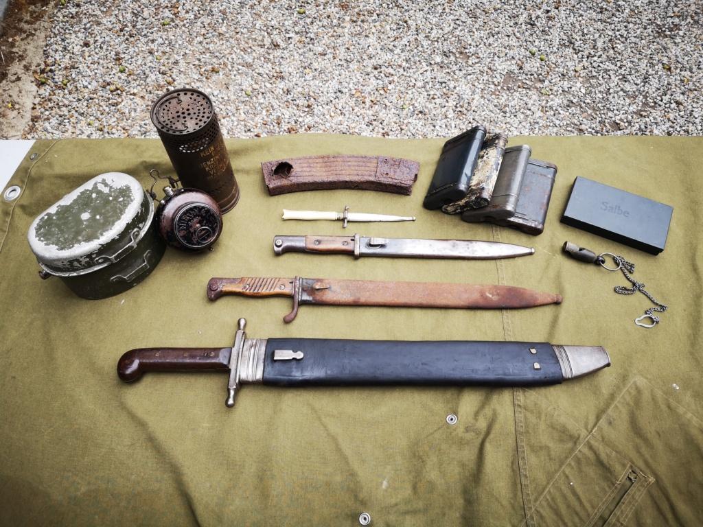Allemands ww1 et ww2, glaive autrichien M1853/89 et pique-couille fin XIXème Img_1743