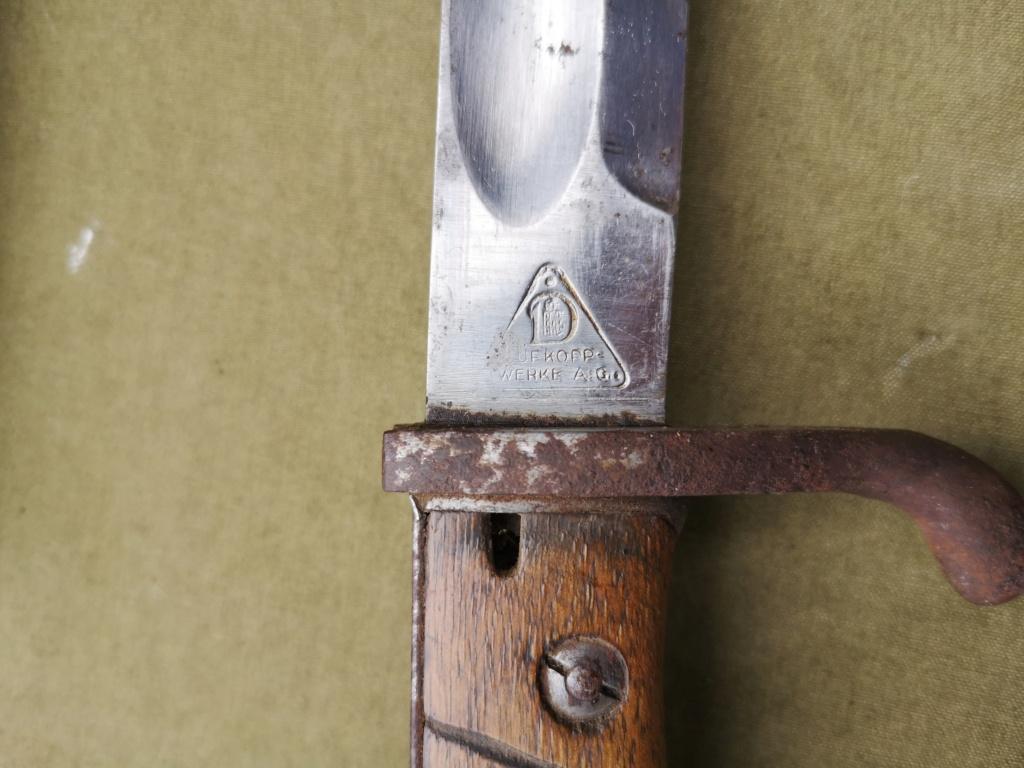 Allemands ww1 et ww2, glaive autrichien M1853/89 et pique-couille fin XIXème Img_1764