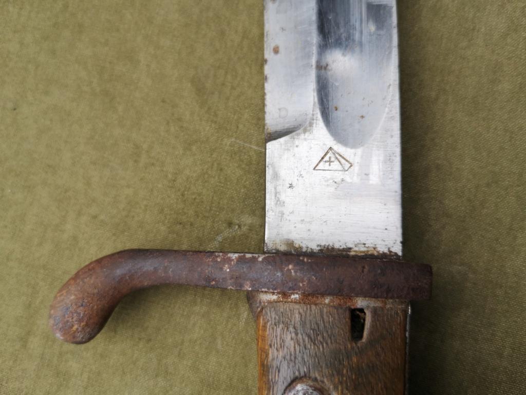 Allemands ww1 et ww2, glaive autrichien M1853/89 et pique-couille fin XIXème Img_1765