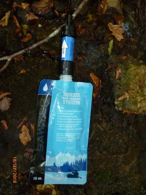 RETEX de 2 systèmes de filtration nomades: La Sawyer « Care Plus » et la Katadyn « My Bottle » P1060519