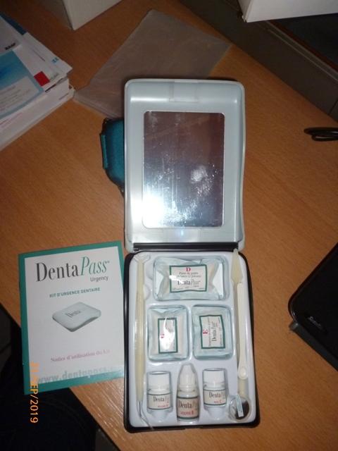 Kit Urgence dentaire commercialisé P1070710