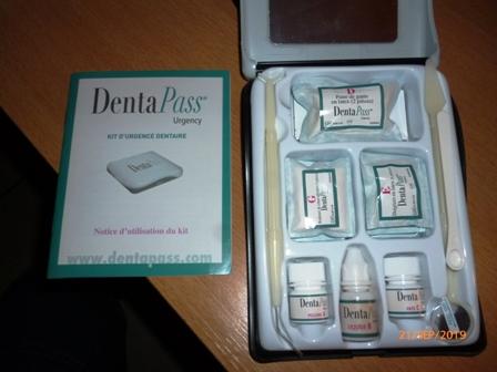 Kit Urgence dentaire commercialisé P1070711