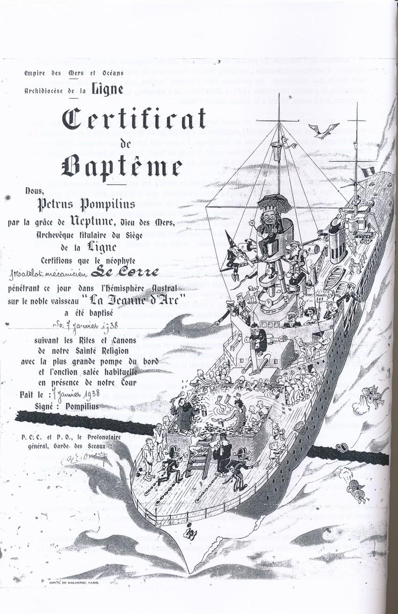 [ Les traditions dans la Marine ] LE PASSAGE DE LA LIGNE - ÉQUATEUR (Sujet unique) - Page 14 1938_p10