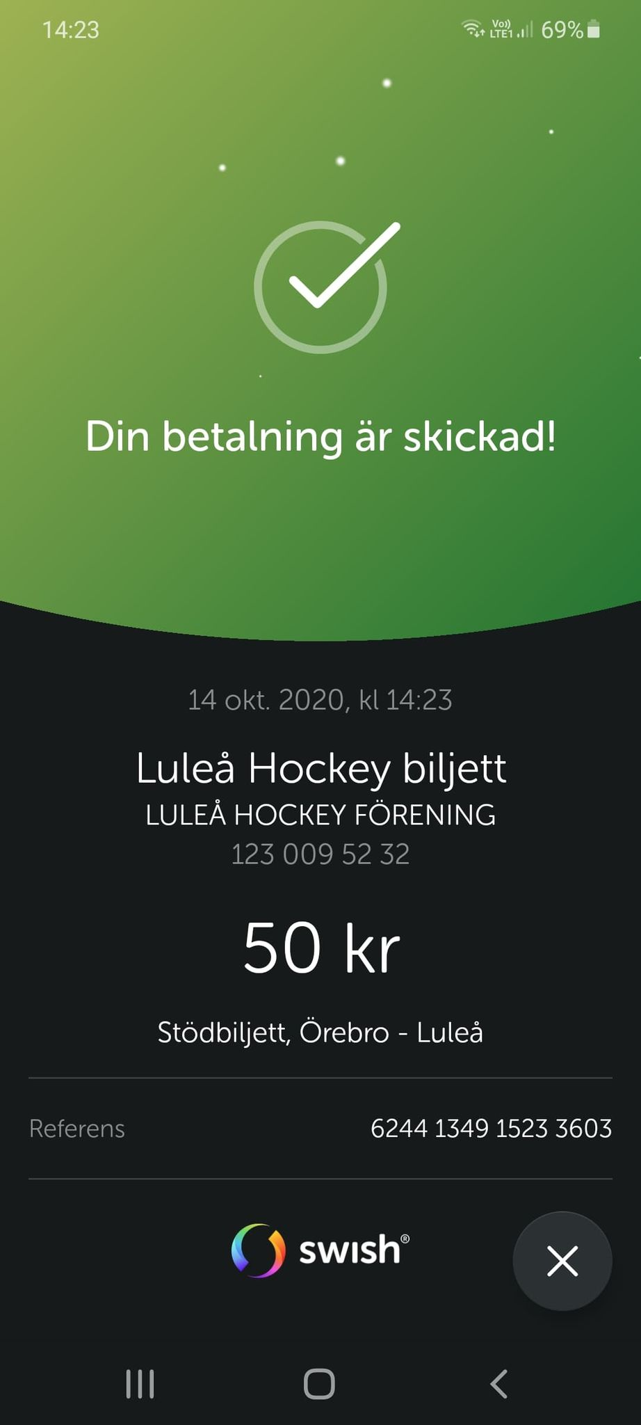 2020-10-15, SHL-match 7, Örebro - Luleå 12149110